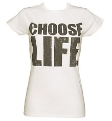 Ladies White Choose Life T-Shirt [View details]