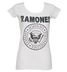 Ladies White Classic Ramones Logo T-Shirt from Amplified Vintage [View details]