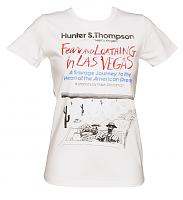 Ladies White Fear And Loathing In Las Vegas By Hunter S Thompson T-Shirt from Out Of Print