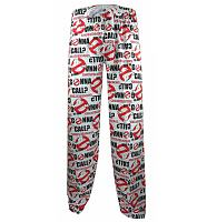 Ladies White Ghostbusters Who Ya Gonna Call Lounge Pants