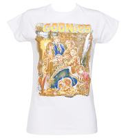 Ladies White Goonies Movie Poster T-Shirt