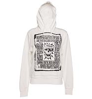 Ladies White Goonies Quotes Hoodie