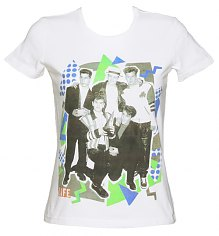 Ladies White Life Magazine Cover Boy Band  90's T-Shirt [View details]