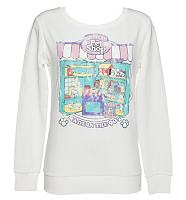 Ladies White Littlest Pet Shop Sweater