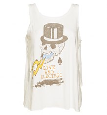 Ladies White Live And Electric Grateful Dead Tank from Junk Food [View details]