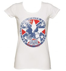 Ladies White Lynyrd Skynyrd 1974 T-Shirt from Amplified Vintage [View details]