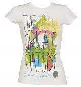 Ladies White Mikey Burton Collaboration Great Gatsby T-Shirt from Out Of Print