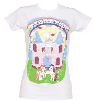Ladies White My Little Pony Dream Castle T-Shirt