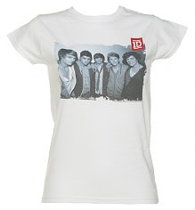 Ladies White One Direction Photographic T-Shirt [View details]