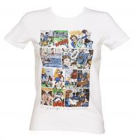 Ladies White Opening Credits Grange Hill T-Shirt from Retreat