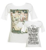 Ladies White Pat Sharp And The Twins Fun House Slouch Scoop Neck T-Shirt