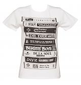 Ladies White Retro Albums T-Shirt from To The Black