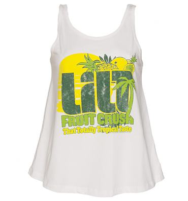 Ladies White Retro Lilt Swing Vest