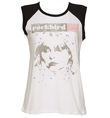 Ladies White Rockbird Blondie Baseball Vest from Junk Food [View details]