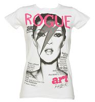 Ladies White Rogue Fashion Mag Cover T-Shirt from To The Black