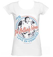 Ladies White Rolling Stones Tour '78 T-Shirt from Amplified Vintage