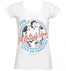 Ladies White Rolling Stones Tour '78 T-Shirt from Amplified Vintage [View details]