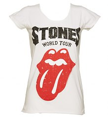 Ladies White Rolling Stones World Tour T-Shirt from Amplified Vintage [View details]