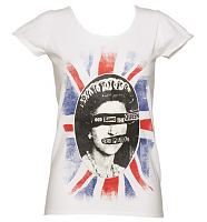 Ladies White Sex Pistols God Save The Queen T-Shirt from Amplified Vintage