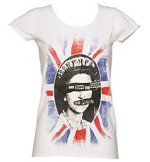 Ladies White Sex Pistols God Save The Queen T-Shirt from Amplified Vintage [View details]