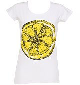 Ladies White Stone Roses Big Lemon T-Shirt from Amplified Vintage