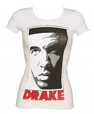 Ladies White Take Care Drake T-Shirt from Amplified Vintage [View details]