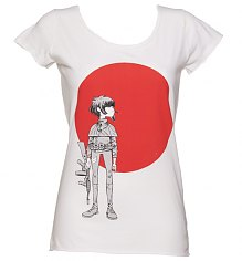 Ladies White The Gorillaz Empire Ants T-Shirt from Amplified Vintage [View details]