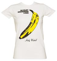 Ladies White Velvet Underground T-Shirt