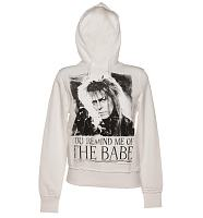 Ladies White You Remind Me Of The Babe Bowie Labyrinth Hoodie