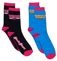 Ladies Wonder Woman 2pk Socks