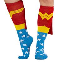 Ladies Wonder Woman Caped Knee High Socks