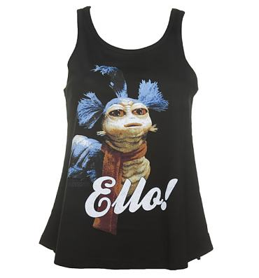 Ladies Black Worm Ello Labyrinth Swing Vest