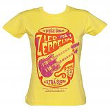 Ladies Yellow By Popular Demand Led Zeppelin T-Shirt