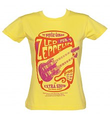 Ladies Yellow By Popular Demand Led Zeppelin T-Shirt [View details]