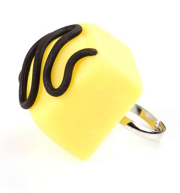 Lemon Fondant Fancy Ring from Girl From Blue City
