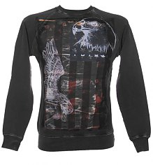 Men's American Angel Charcoal Sweater from Amplified Dark Souls [View details]