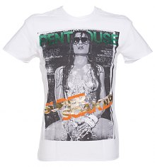 Men's Diamante Penthouse Foil Super Soaker White T-Shirt from Amplified Pin-Ups [View details]
