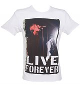 Men's Oasis Live Forever White T-Shirt from Amplified Ikons