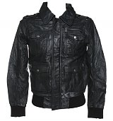 Men's Pizzorno KISS Black Leather Jacket from Amplified