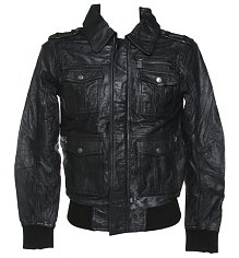 Men's Pizzorno KISS Black Leather Jacket from Amplified [View details]