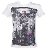 Men's Winged Biker Off White T-Shirt from Amplified Dark Souls