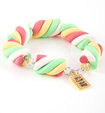 Marshmallow Flump Bracelet from Girl From Blue City
