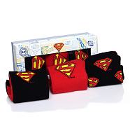 Men's 3pk Superman Socks Gift Set