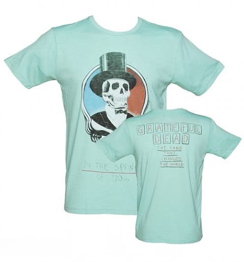 Mens Aqua Grateful Dead Spring 70 TShirt from Junk Food