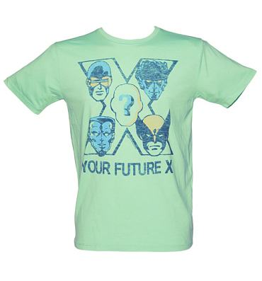 Men's Aqua Your Future X-Men T-Shirt from Junk Food