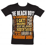 Men's Black Beach Boys Best Of SS T-Shirt