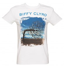 Men's Biffy Clyro Opposites White T-Shirt [View details]