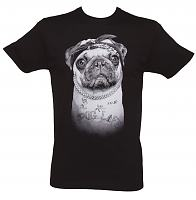 Men's Black 2Pug Shakur T-Shirt from Goodie Two Sleeves