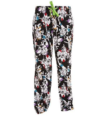 Men's Black And White Teenage Mutant Ninja Turtles Lounge Pants