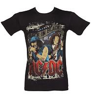 Men's Black Angus And Brian AC/DC T-Shirt